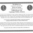 The Bolton Ass is proud to present the Kick Ass Award to Business Columnist William Bruce and Lagniappe Mobile, Alabama Lagniappe has been publishing bi-weekly newspapers in Mobile, Alabama since […]